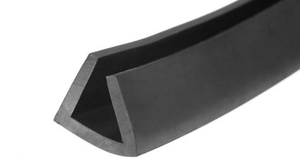 Rubber Square U Channel Section - Rubber Extrusion